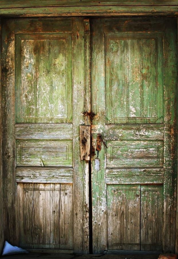 De deur van Grunge royalty-vrije stock foto's