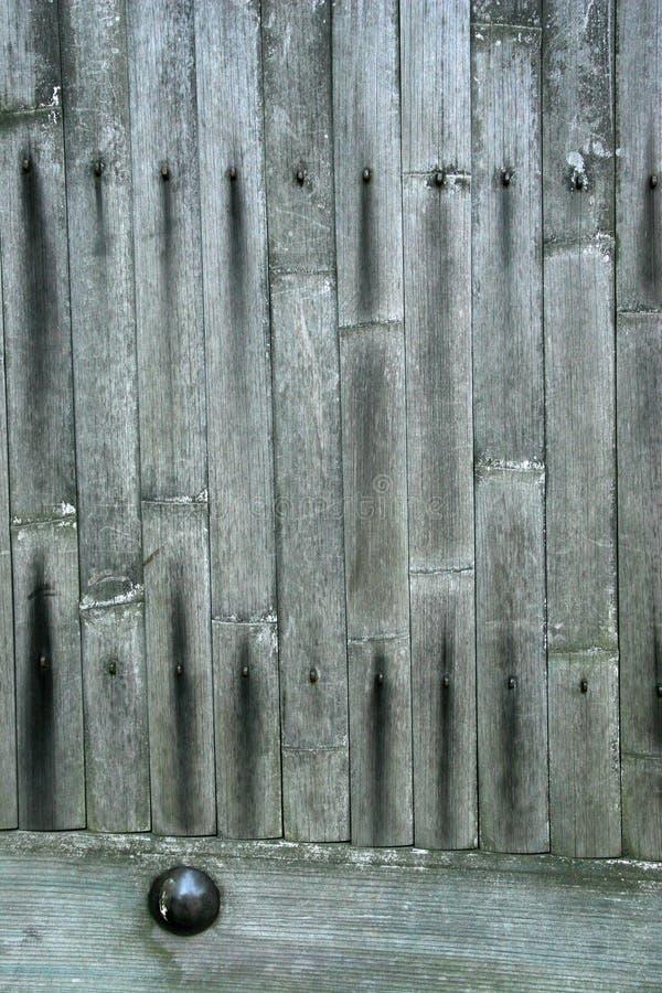 De deur van het bamboe stock afbeeldingen