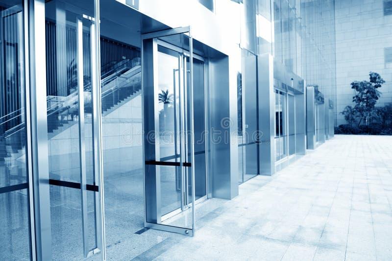 De deur van het glas royalty-vrije stock afbeelding