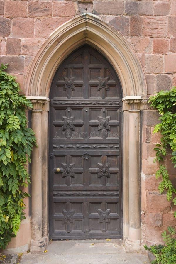 De deur van het kasteel royalty-vrije stock foto's