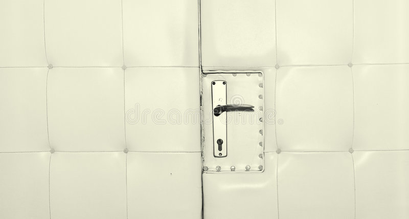 De deur van het leer stock foto's