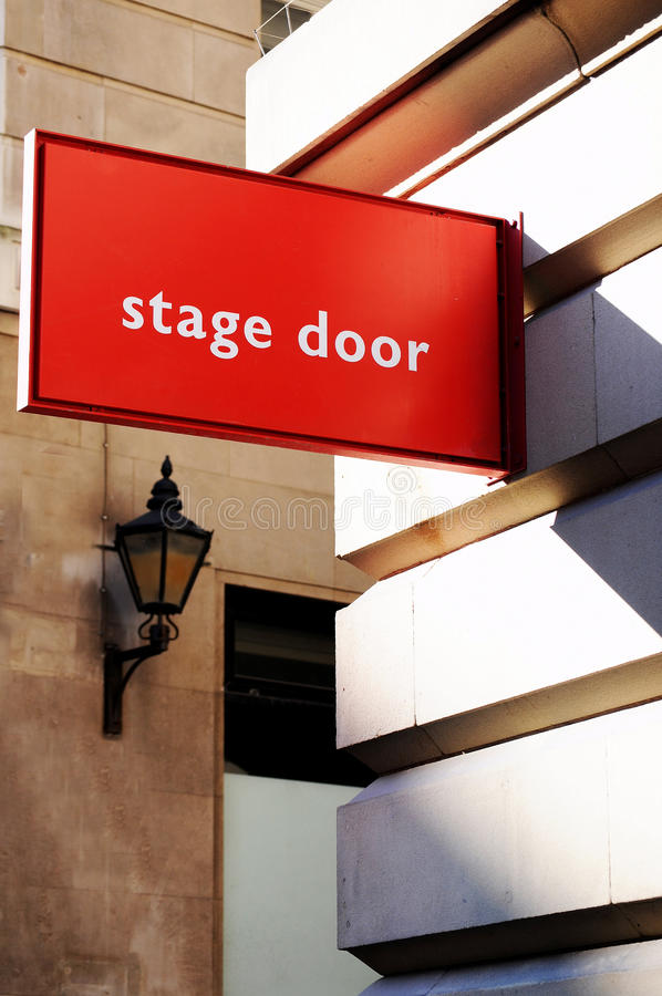 De deur van het stadium stock foto
