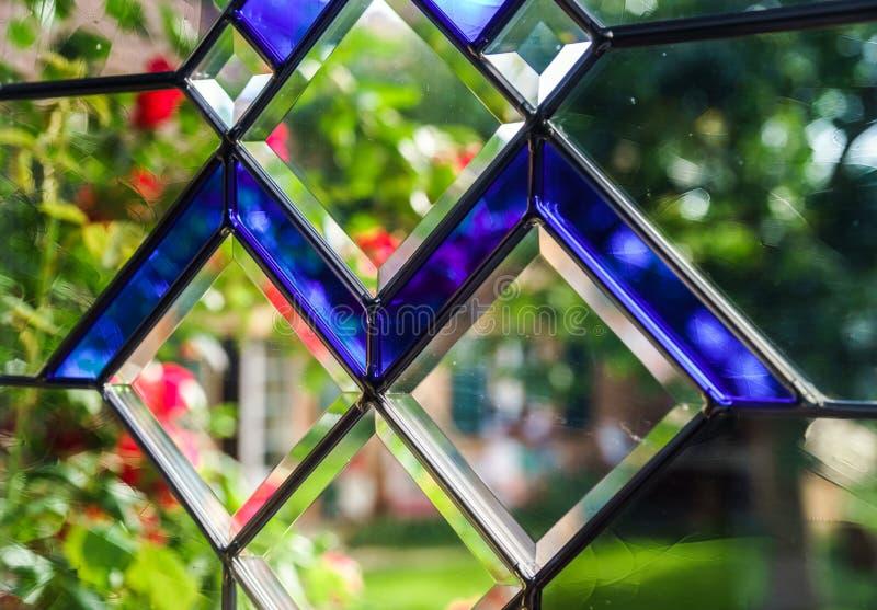 De deur van ingangspvc met tiffany leaded ruit royalty-vrije stock afbeelding