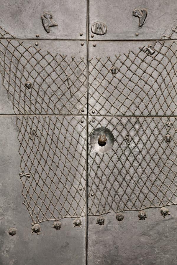 De deurdecoratie van het metaal royalty-vrije stock foto