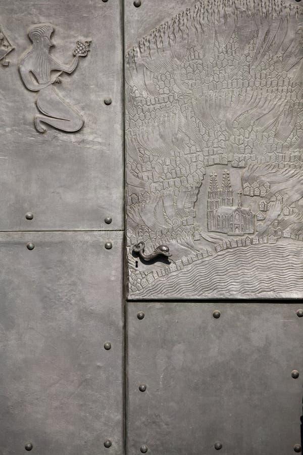 De deurdecoratie van het metaal royalty-vrije stock foto's