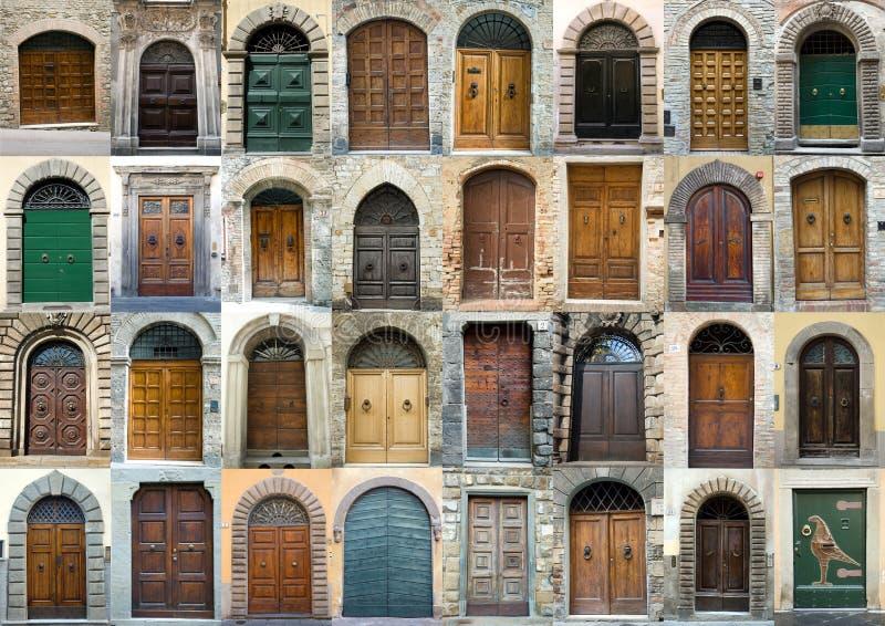 De deuren Toscanië Italië van de inzameling royalty-vrije stock foto