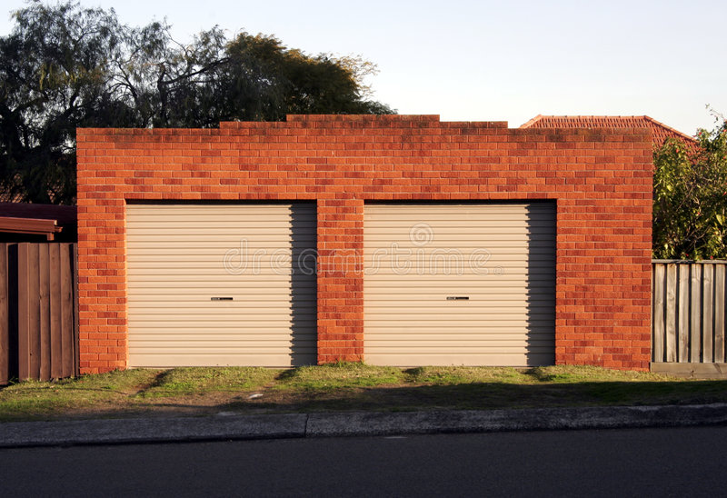 De Deuren van de garage stock foto