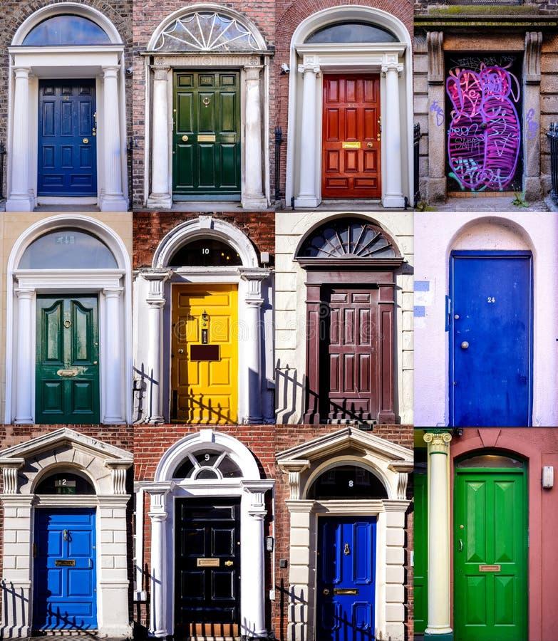 De deuren van Dublin royalty-vrije stock fotografie
