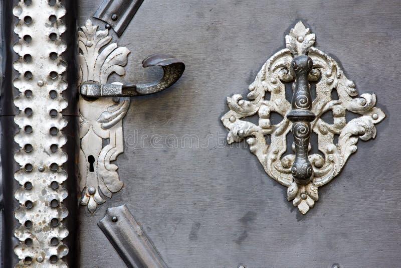 De deurhandvat van het metaal stock afbeelding