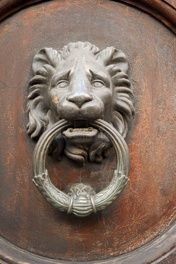 De deurkloppers van de leeuw royalty-vrije stock afbeeldingen