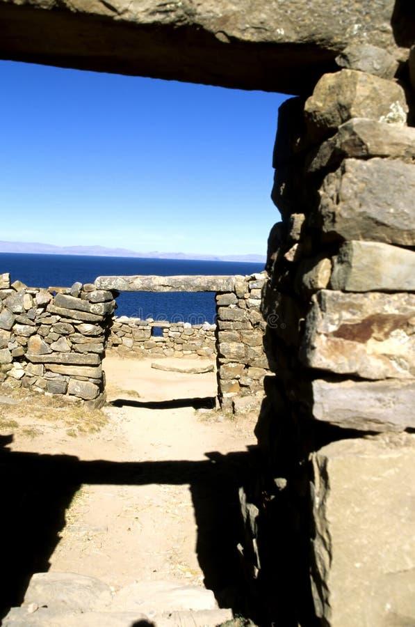 De deuropening Bolivië van Incan stock afbeelding