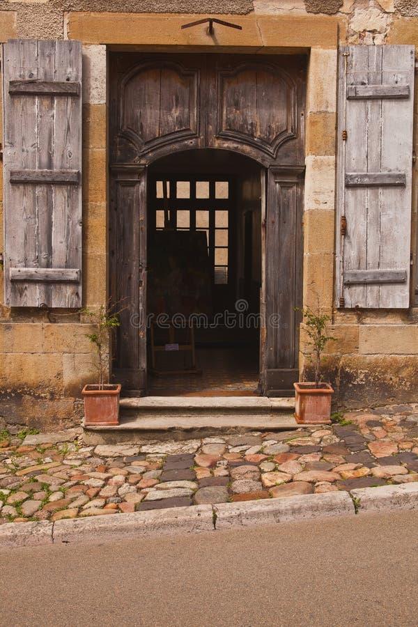 De deuropening van Vezelay stock foto's