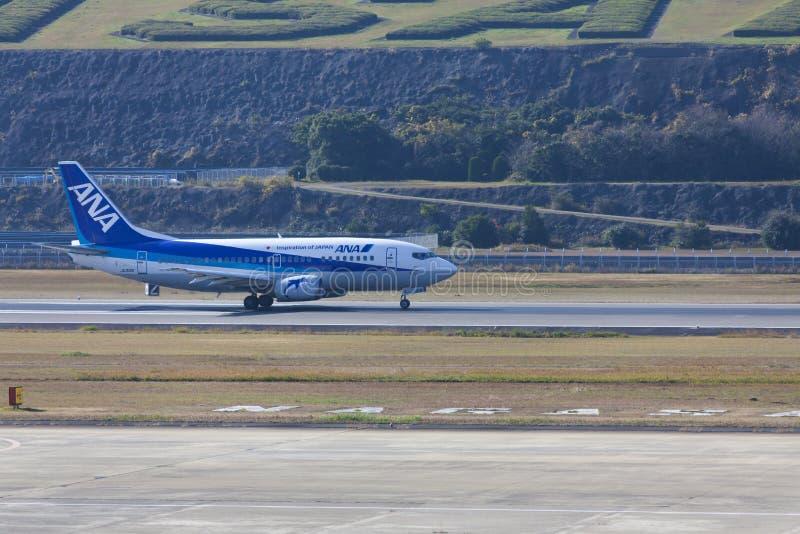 19 de dezembro de 2015 aeroporto Nagasaki japão All Nippon Airways ANA ai fotografia de stock