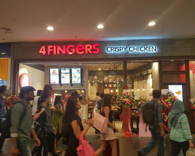 23 de dezembro de 2016, Kuala Lumpur 4fingers novos lançam-se para fora hoje em NU Sentral Kuala Lumpur foto de stock