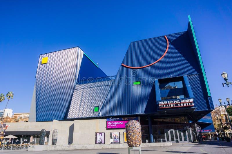 6 de dezembro de 2017 San Jose/CA/EUA - Susan e Phil Hammer Theatre Center em San Jose do centro, perto de San Jose State Univers imagens de stock royalty free