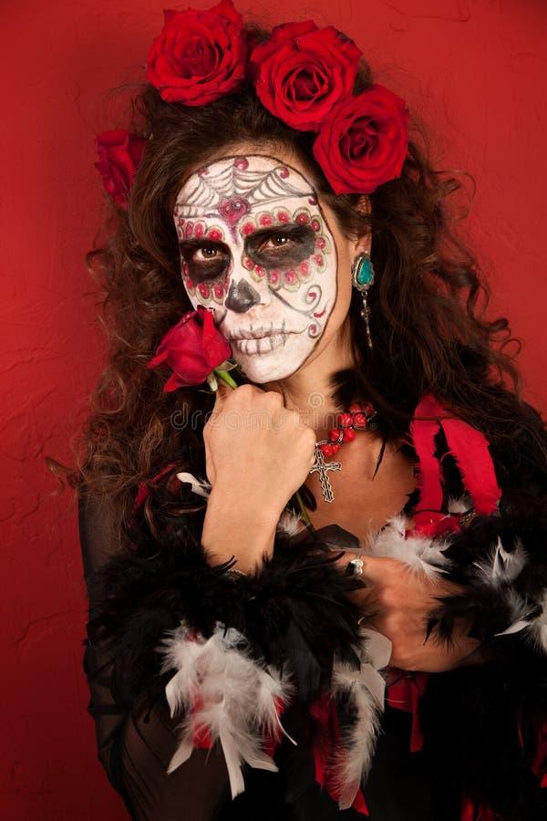 de Dia Los muertos róże zdjęcie royalty free