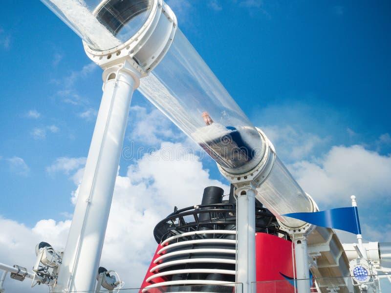 De dia van het Aquaduckwater, Disney-cruise stock afbeelding