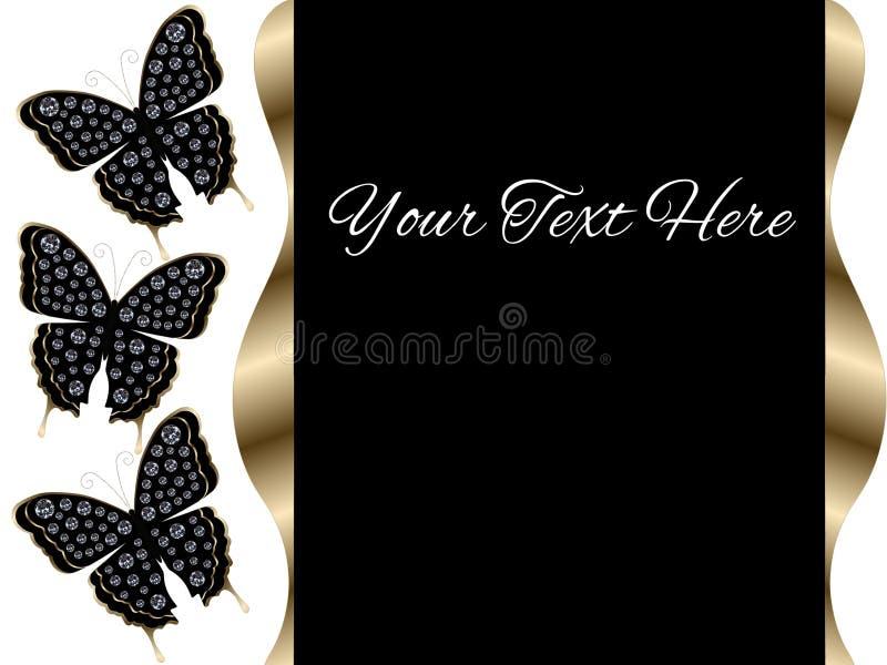 De Diaachtergrond van de drie Zwarte Vlinderspresentatie vector illustratie