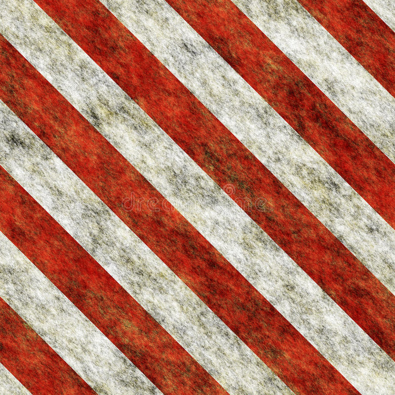 De diagonale naadloze textuur van gevaarstrepen stock illustratie