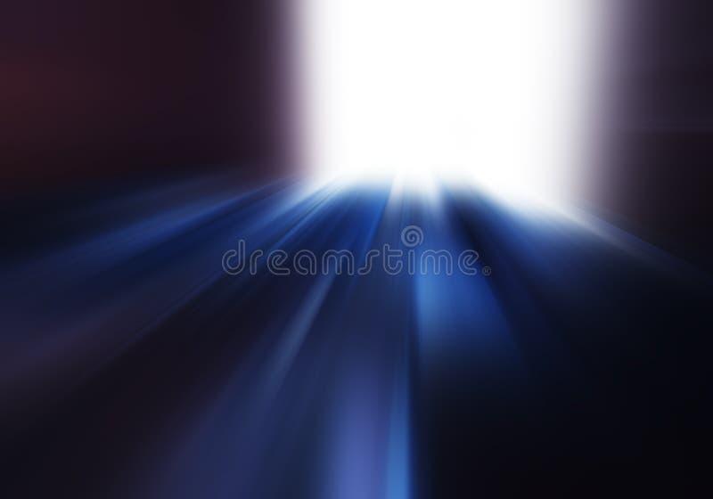 De diagonale weg van het motieonduidelijke beeld om te gloeien achtergrond stock afbeelding
