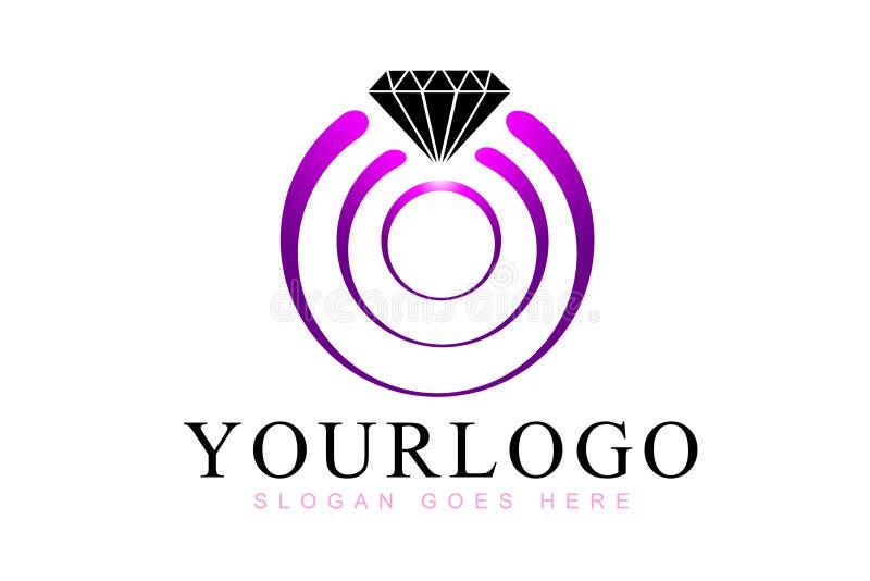 De diamant belt Embleem royalty-vrije illustratie