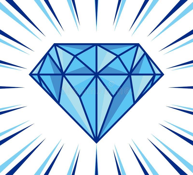 De diamant glanst stock illustratie