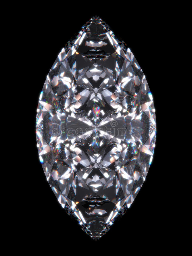 De diamant marquise stock illustratie