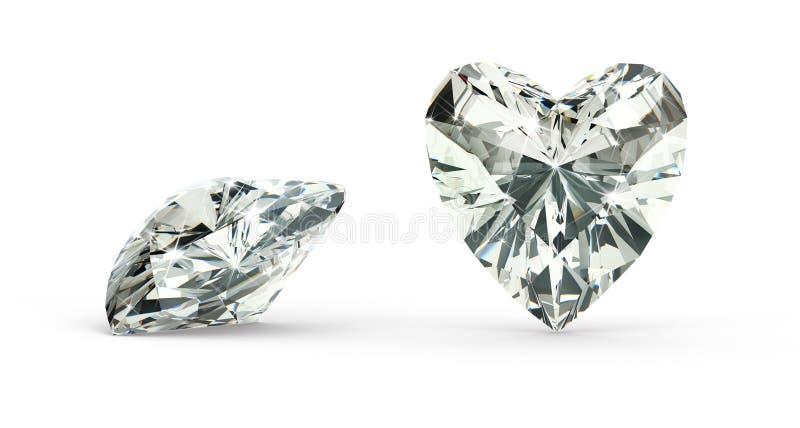 De Diamant van de hartbesnoeiing stock illustratie