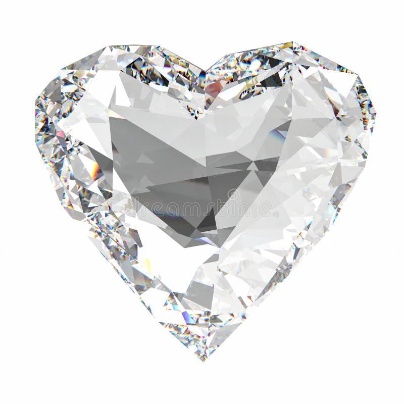 De diamant van de hartvorm vector illustratie