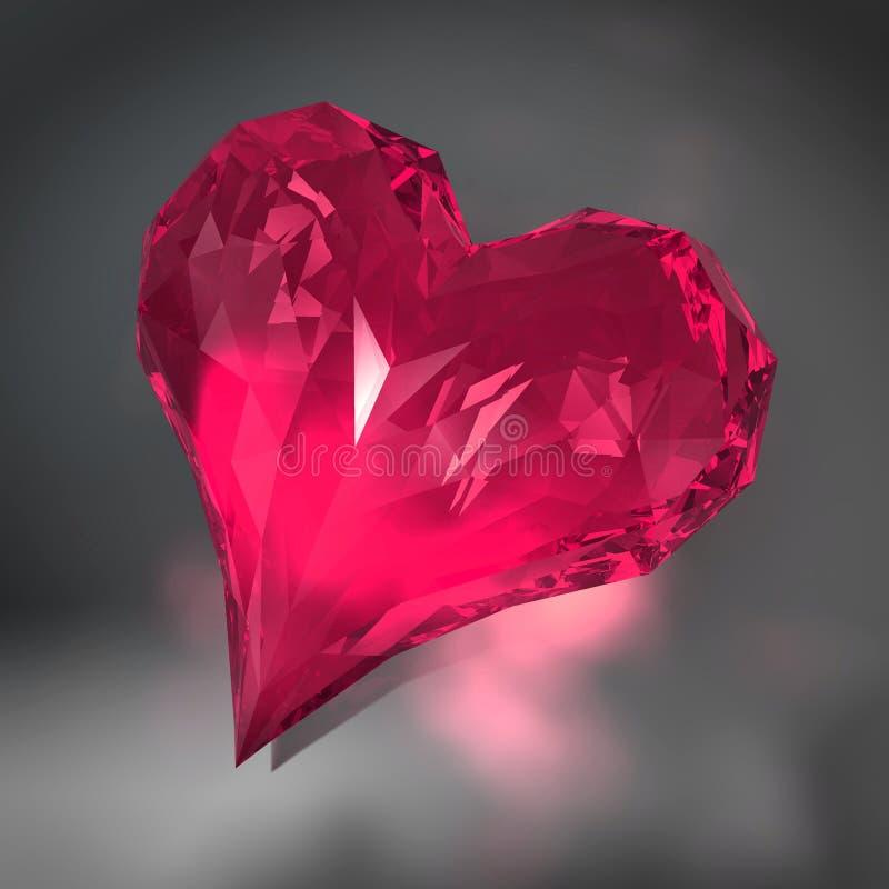 De diamant van het hart stock illustratie