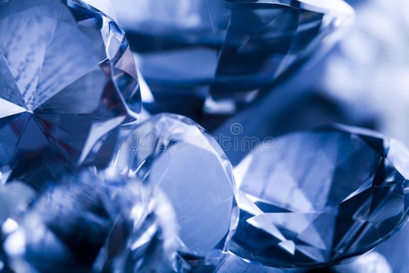 De diamant van het kristal stock foto's
