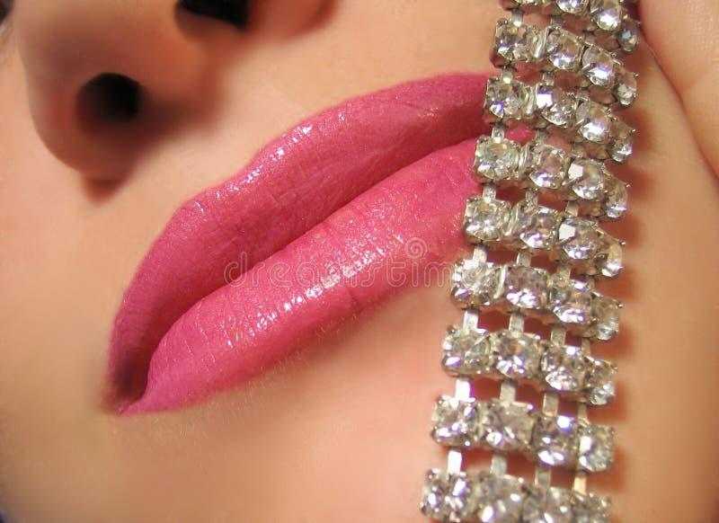 De diamanten en polijsten stock foto