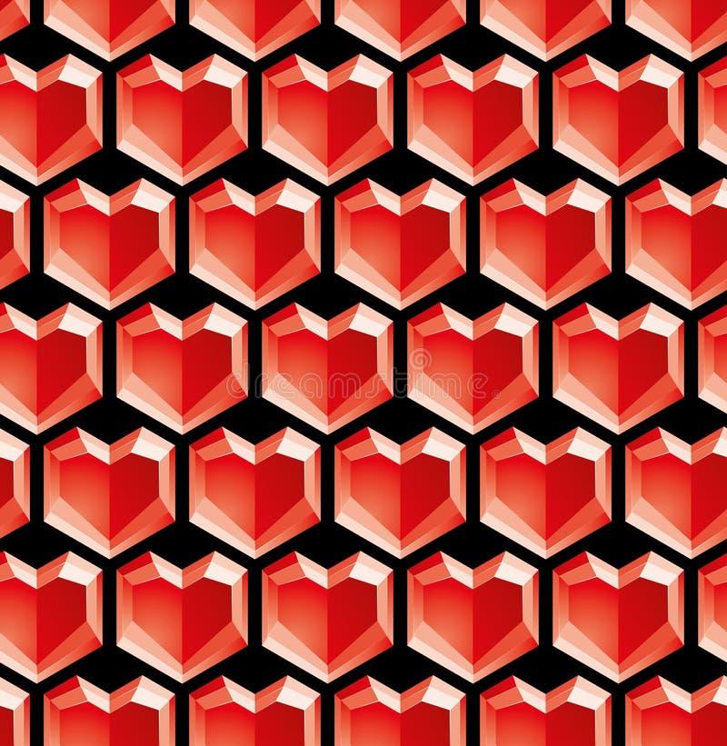 De diamanten van de valentijnskaart vector illustratie