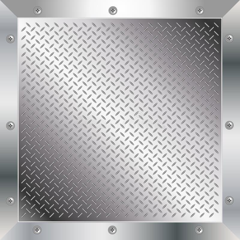 De diamantplaat van het metaal vector illustratie