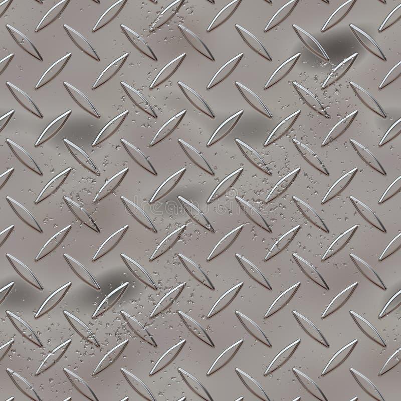 De diamantplaat van het metaal stock illustratie