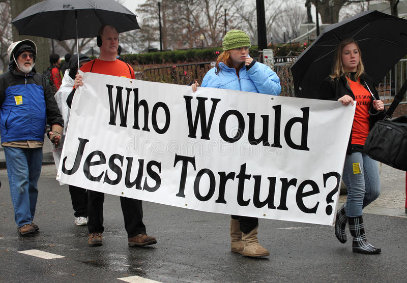 De dichte demonstraties van Guantanamo royalty-vrije stock afbeeldingen