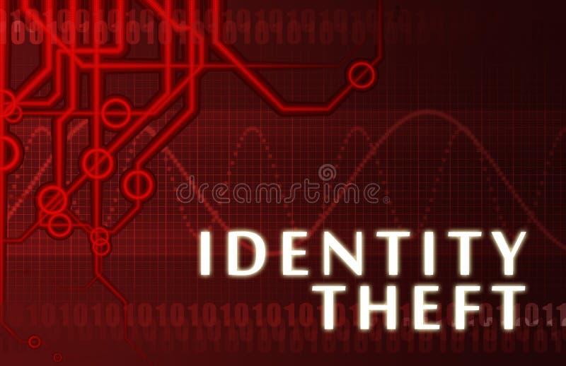 De Diefstal van de identiteit royalty-vrije illustratie