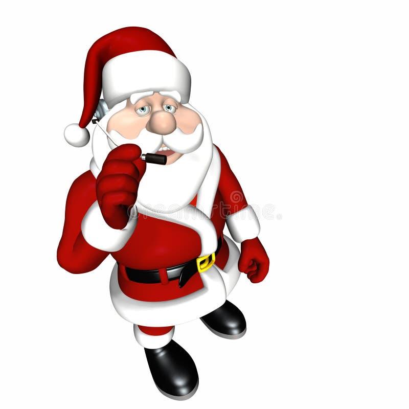 De Dienst 4 van de Klant van de kerstman stock illustratie