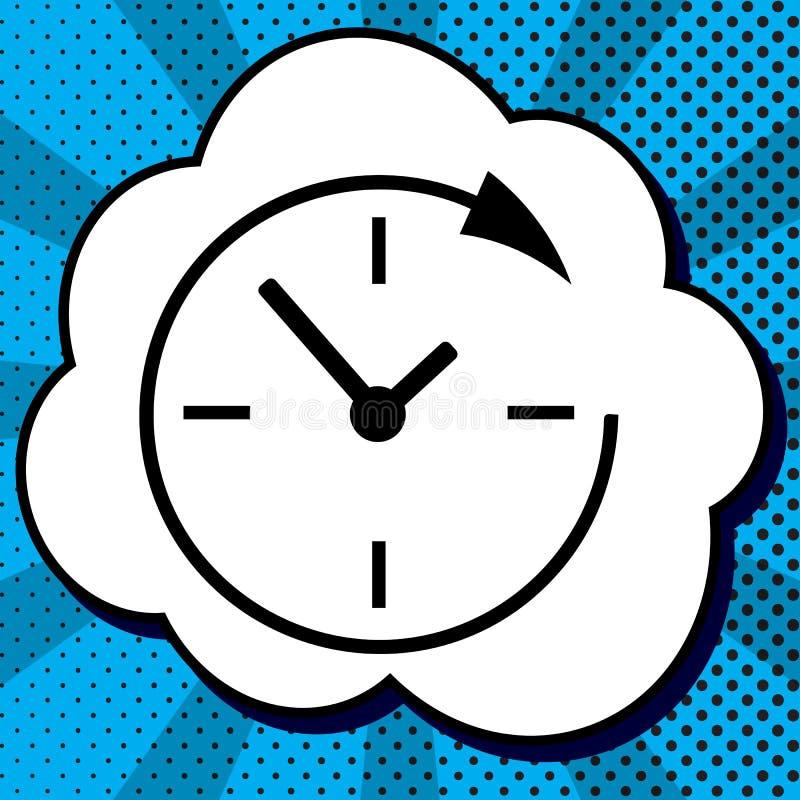 De dienst en steun klanten de klok rond en 24 uren vector illustratie