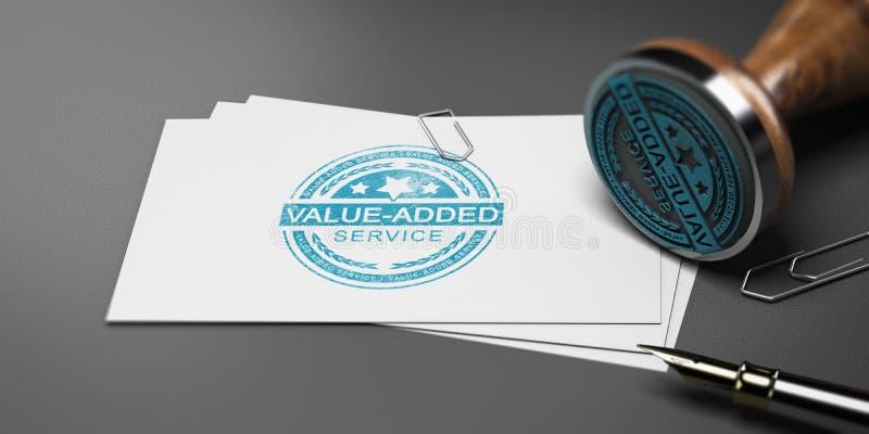 De Dienst op de toegevoegde waarde, VAS vector illustratie