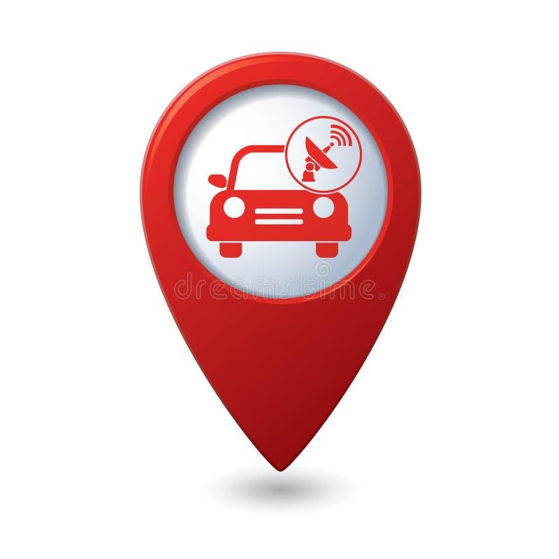 De dienst van de auto Auto met draadloos pictogram royalty-vrije illustratie