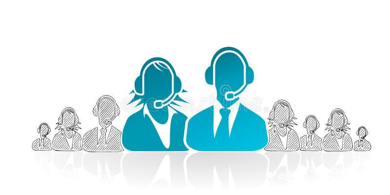 De dienst van de klant stock illustratie