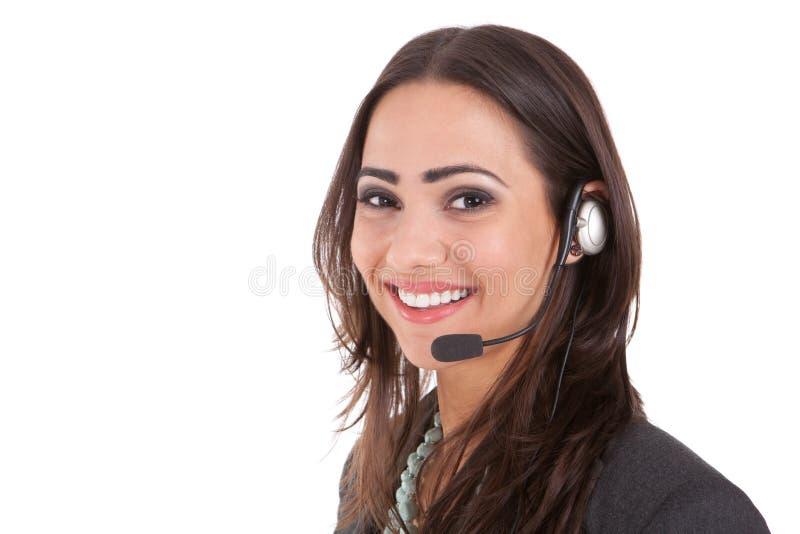 De dienst van de klant met een glimlach royalty-vrije stock afbeeldingen