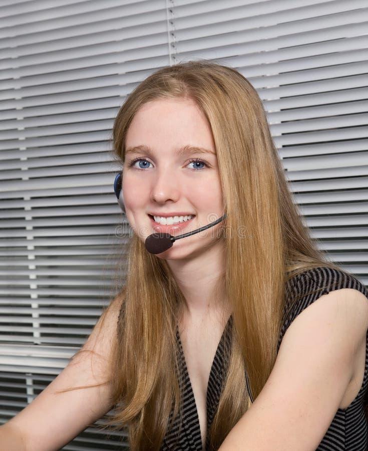 De Dienst van de klant met een Glimlach royalty-vrije stock foto
