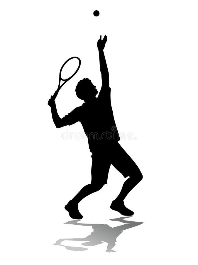 de dienst van de tennisspeler stock foto