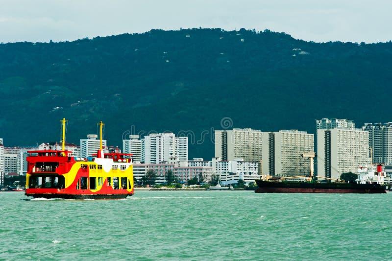 De Dienst van de Veerboot van Penang stock afbeeldingen