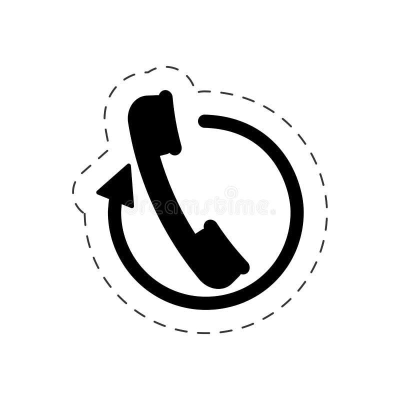 de dienst van het call centrehotel royalty-vrije illustratie