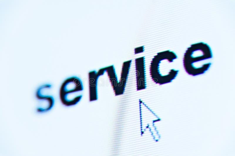 De dienst van Word stock afbeelding