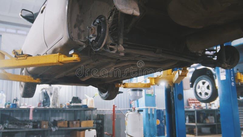 De dienst van de workshopauto - de instorting van convergentie - proces het herstellen stock afbeeldingen