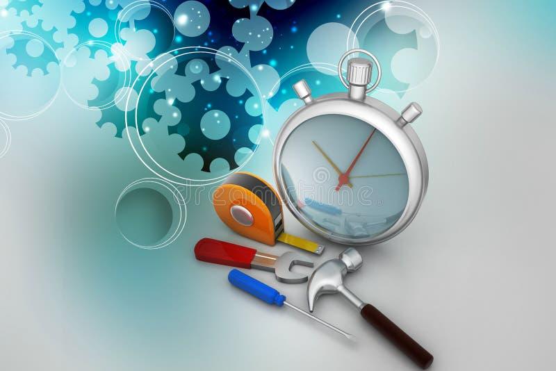 De dienstconcept van het tijdbeheer vector illustratie